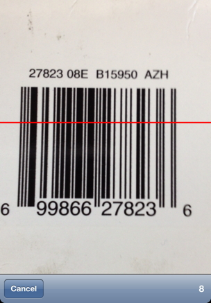 to effectively scan a barcode position the red line across the barcode with the barcode filling somewhere between half and of the screen on
